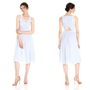 French Connection Dalia Blue White Sequin Dress